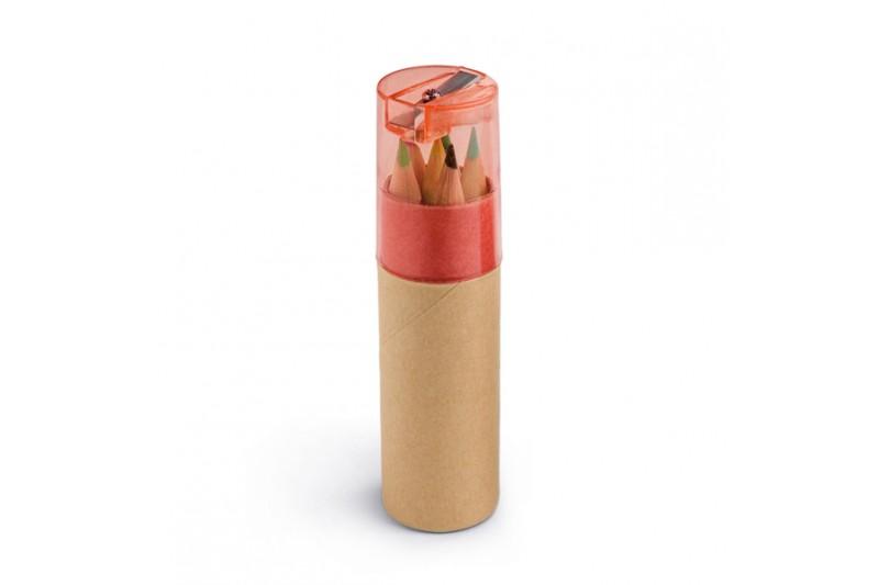 Boîte avec 6 crayons de couleur