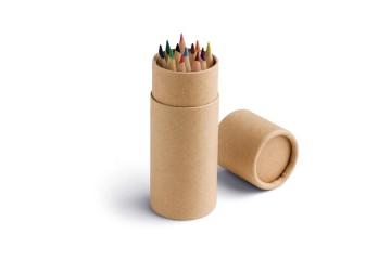 Boîte avec 12 crayons de couleur